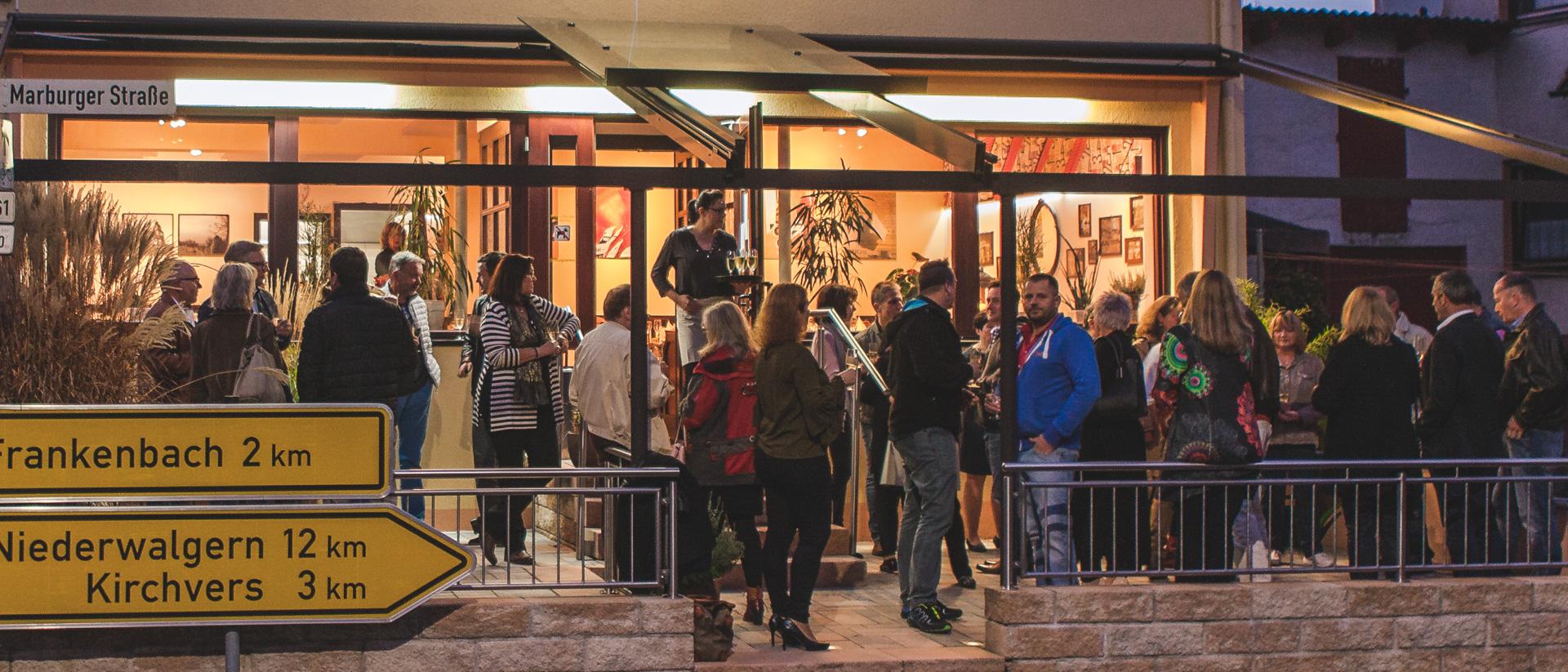 Impressionen Kulinarik-Event mit Sektempfang auf der Terrasse
